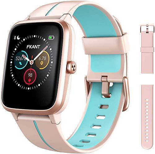Smartwatch Damen, DIY Zifferblatt Fitnessuhr mit GPS,...