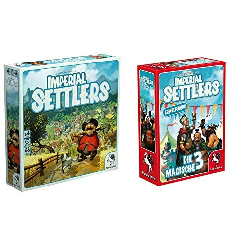 Pegasus Spiele 51962G - Imperial Settlers & 51965G - Imperial Settlers Die magische 3