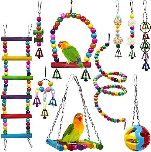 Anobel 10 Stück Vogelspielzeug für Papageien Wellensittiche...
