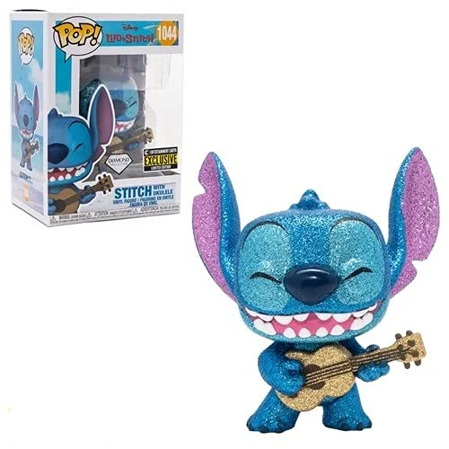 Lilo & Stitch Stitch mit Ukulele Diamond Glitter Pop Vinyl-Figur...