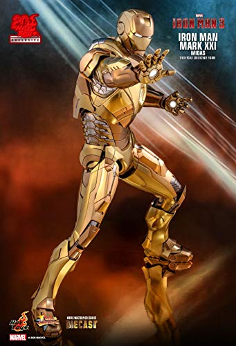 Iron Man Hot Toys 3 Movie Masterpiece Action Figure 1/6 Mark XXI...