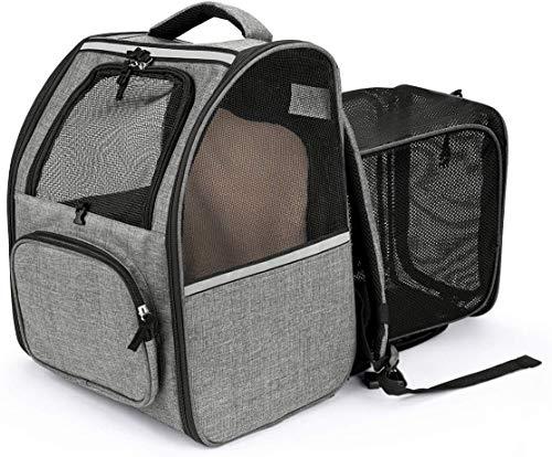 CatRomance Hunderucksack Haustier Rucksack, Erweiterbare und...