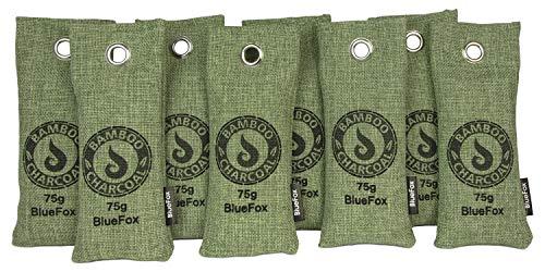 BlueFox Lufterfrischer aus Bambus Aktivkohle im 8er Set - 75g -...
