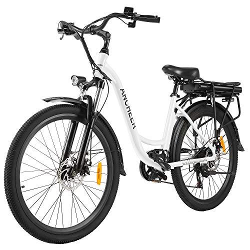 ANCHEER 26' Elektrofahrrad, Stadt E-Bike Cruiser mit Abnehmbarer...