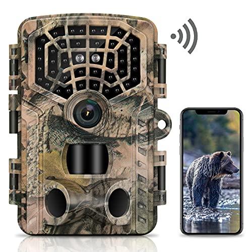 VANBAR Wildkamera 4K 32MP WLAN Bluetooth Wildkamera mit...