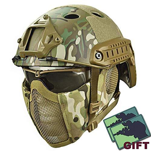 YOROOW Paintball Schutzhelm Camo Gesicht Airsoft Schneller Helm...