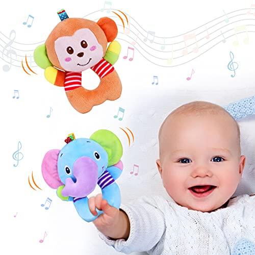 Vacoulery Greifling zum Rasseln 2 Stück Baby Rasseln Spielzeug...