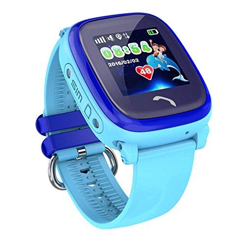 VIDIMENSIO GPS Telefon Uhr 'Kleiner Delfin-blau, Armband:ohne...