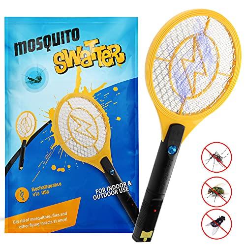 Zenoplige Elektrische Fliegenklatsche,Insektenvernichter Moskito...
