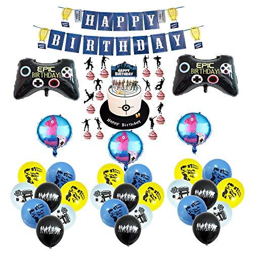 smileh Gaming Geburtstags deko Videospiel Luftballons Gaming...