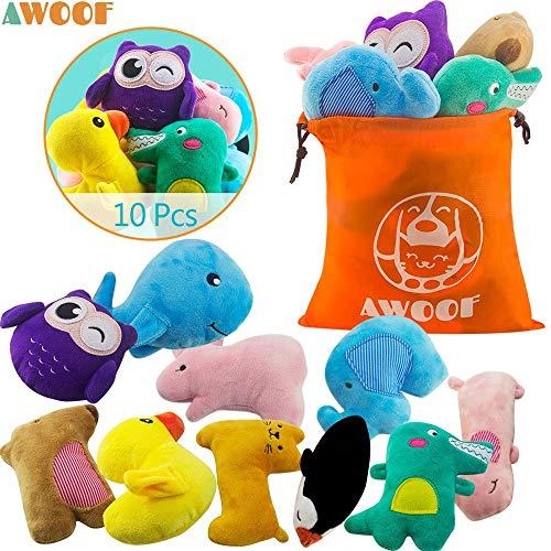 AWOOF 10 Pack Hundespielzeug Welpenspielzeug Hund...