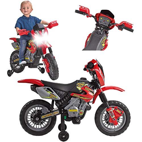 FEBER 6V Motorrad Cross, 400F, 6 V, Farbe Schwarz, Grau, Rot,...