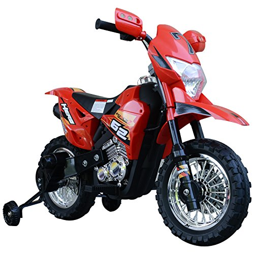 HOMCOM Elektro-Motorrad Kindermotorrad Elektrofahrzeug 3 bis 6...