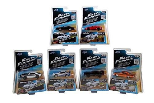 Fast & Furious Set 6 + 1 Modellautos in 1:55 Jada Toys 14026