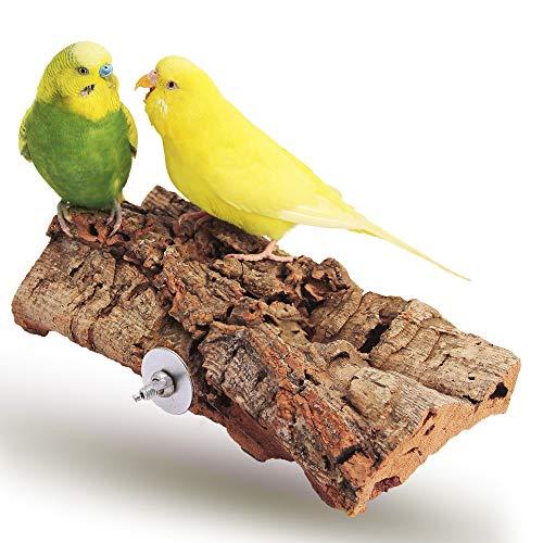 Vogelgaleria® Tolles Korksitzbrett groß für Vögel |...