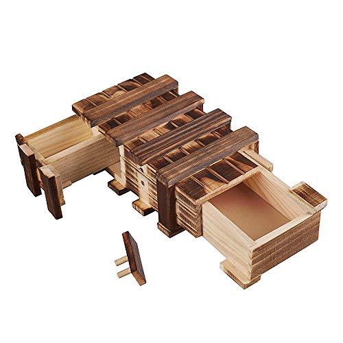 Amasawa Holzgeschenkbox,Magic Box mit 2 Fächern Zum Kreativen...