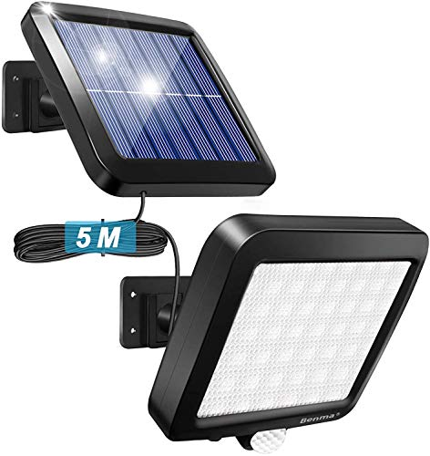 56 LED Ultrahelle Solares Leuchte mit Bewegungsmelder (Kabel...