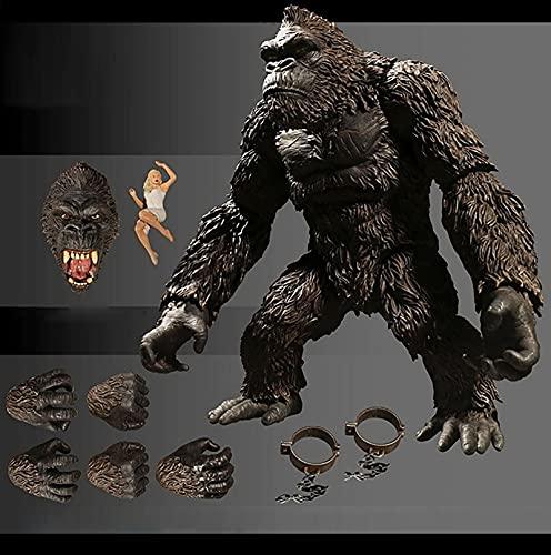 King Kong Figure Skull Island Gorilla Figure Orangutan Movable...