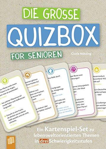Die große Quizbox für Senioren: Ein Kartenspiel-Set zu...