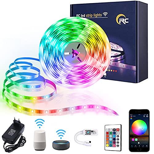 LED Strip,RC WiFi led Streifen 5m,5050 RGB LED Strip,Farbwechsel...