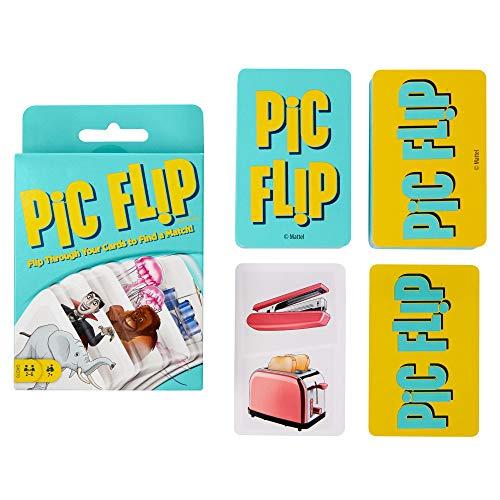 Mattel Games - GKD70 Pic Flip Kartenspiel und Gesellschaftsspiel,...