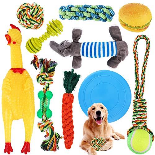 SaiXuan Hundespielzeug,10 PCS Hundeseile Spielzeug,Spielseil für...