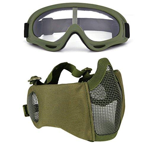 Fansport Paintball Maske, Airsoft Masken Softair Maske Mesh-Maske...