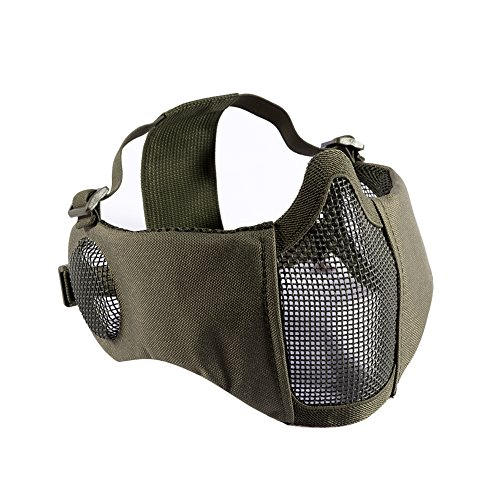 OneTigris Airsoft Faltbare halbe Maske Mesh Gesichtsmaske mit...