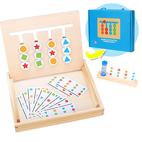 Montessori Spielzeug Holz Puzzle Sortierbox, Kinder Lernspielzeug...