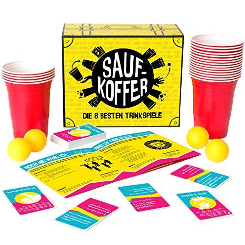 Gutter Games Saufkoffer - Die 8 besten Trinkspiele (Bier Pong, Noch nie Habe ich,...