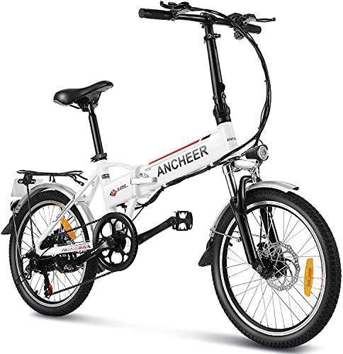 ANCHEER 20' klappbares E-Bike, Faltbares Pedelec, Elektrofahrrad...