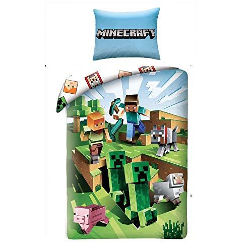 Halantex Minecraft Bett Set Kakteen die rennen Cactus Baumwolle...