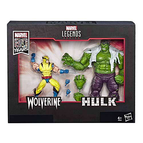 Marvel Legends 80th Anniversary Wolverine and Hulk 6-Inch Action...