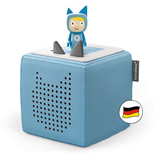 Toniebox Starterset in Hellblau: Toniebox + Kreativ-Tonie - Der Tragebare Lautsprecher für...
