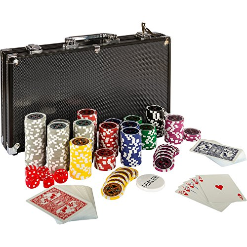 Ultimate Black Edition Pokerset, 300 hochwertige 12 Gramm...