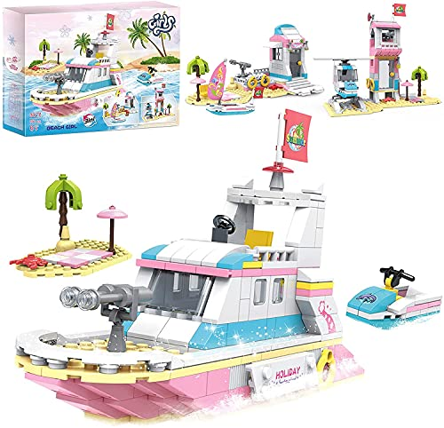Mädchen 3 in 1 Bootsbausatz Strandhausbau Spielzeug...