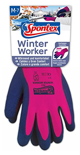 Spontex Winter Worker Handschuhe, Arbeitshandschuhe mit...