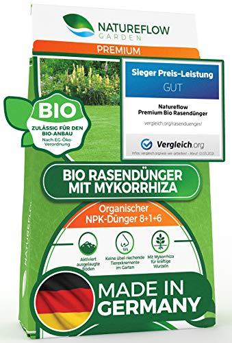TESTSIEGER Premium Bio Rasendünger 20kg mit Mykorrhiza aus...