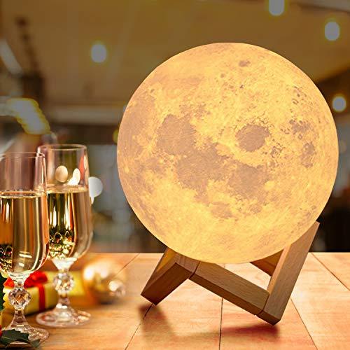 18cm Groß Mondlampe mit Fernbedienung,OxyLED Farbige Dekoleuchte...