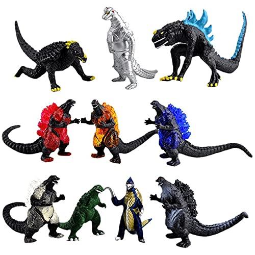 10Pcs / Set Anime Godzilla Vs King Kong of The Monsters Figur...