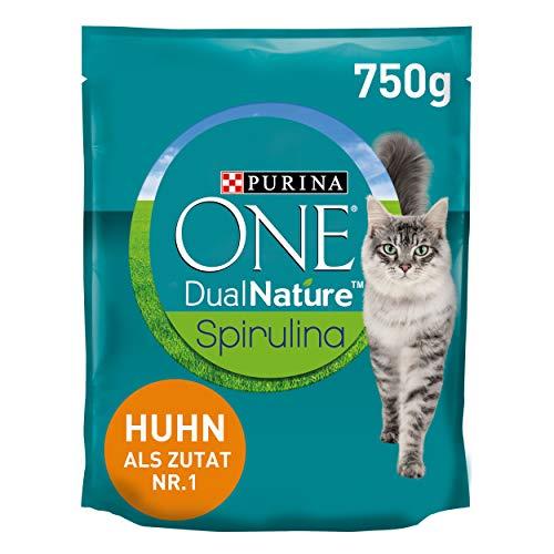 PURINA ONE Dual Nature Katzenfutter trocken mit Spirulina, reich...