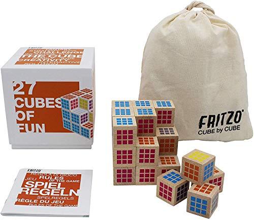 FRITZO Cube Premium Holzspiel Gesellschaftsspiel & Knobelspiel...