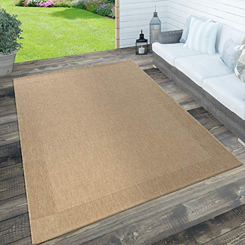 Paco Home In- & Outdoor Teppich, Terrasse u. Balkon, Wetterfest...