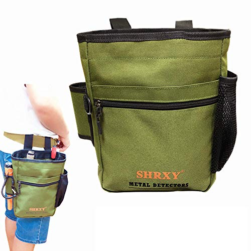 shrxy Garden Metal Detecting Finds Bag Detector Pouch...