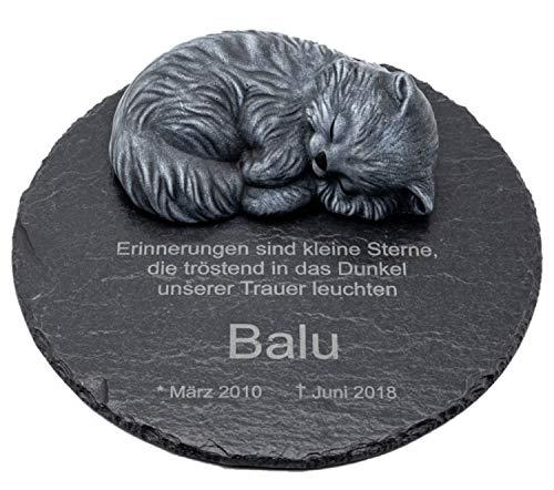 Tiefes Kunsthandwerk Gedenktafel aus Schiefer mit schlafender...