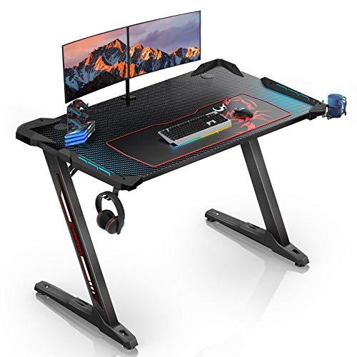 EUREKA ERGONOMIC Gaming Tisch Z1S Gaming Schreibtisch Gaming...