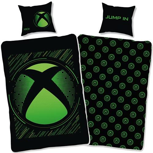 SkyBrands Xbox Bettwäsche 135x200 80x80 Kisse-Bezug [Wendemotiv]...