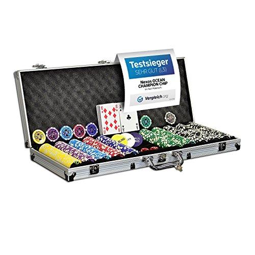 Nexos Pokerkoffer Pokerset 500 300 Laser Pokerchips Poker...