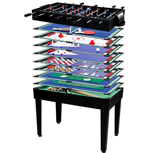 Maxstore Multigame Spieletisch Mega 15 in 1, inkl. komplettem Zubehör, Spieltisch mit...