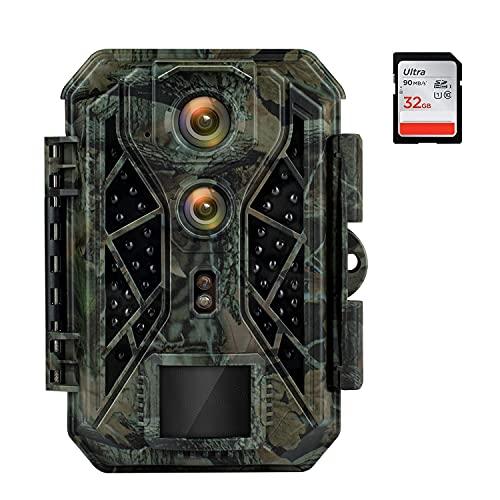 HAPIMP Wildkamera 4K 32MP mit Bewegungsmelder Nachtsicht...